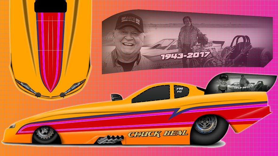 "Brandon Welch to drive Chuck Beal ""Bealmobile"" memorial car at Winternationls"