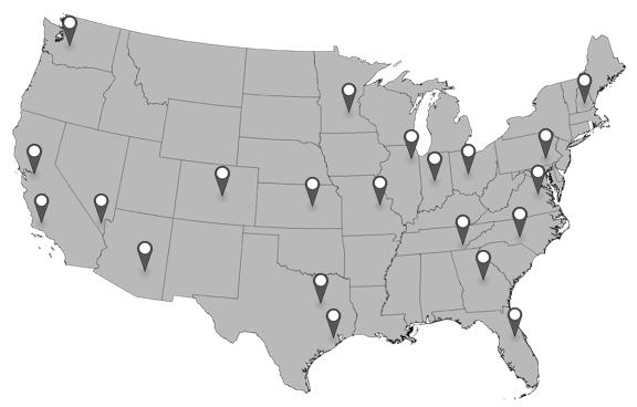 NHRA map